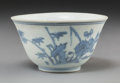 Asian:Chinese, A Chinese Shipwreck Blue and White Porcelain Cup, Ming Dynasty.Marks: Six-character Cheghua mark in blue underglaze. 2 inch...