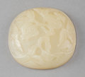 Asian:Chinese, A Chinese White Jade Pomegranates Plaque, Qing Dynasty.2-1/2 inches wide (6.4 cm). ...