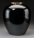 Asian:Chinese, A Chinese Black Glazed Porcelain Vase, Qing Dynasty. 12-1/8 incheshigh (30.8 cm). ...