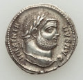 Ancients:Roman Imperial, Ancients: Maximian, first reign (AD 206-305). AR argenteus (3.39gm).Choice XF, deposits....