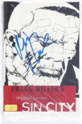 Books:General, Frank Miller's Sin City: The Hard Goodbye Paperback Signedby Mickey Rourke (Dark Horse, 2010) Condition: NM-....