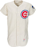 Baseball Collectibles:Uniforms, 1971 Fergie Jenkins Game Worn Chicago Cubs Jersey, MEARS A9.5 - Cy Young Season!....