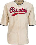 Baseball Collectibles:Uniforms, 1938 Woody Jensen Game Worn Pittsburgh Pirates Uniform, MEARS A10....