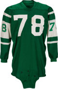 Football Collectibles:Uniforms, Circa 1967-68 Jim Harris Game Worn New York Jets Jersey....