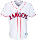 Baseball Collectibles:Uniforms, 1997 Ivan Rodriguez Game Worn & Signed Texas Rangers Jersey....