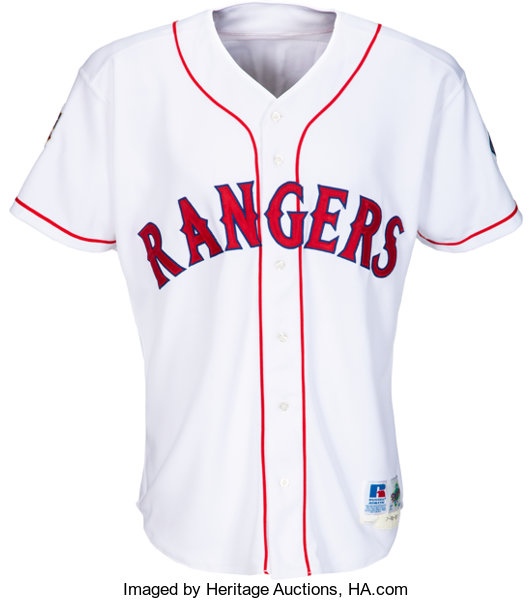 reputable site 29320 b4280 1997 Ivan Rodriguez Game Worn & Signed Texas Rangers Jersey ...