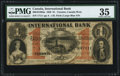 Canadian Currency, Toronto, CW- International Bank of Canada $1 Sept. 15, 1858 Ch. #380-10-10-04a.. ...