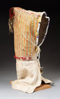 American Indian Art:Beadwork and Quillwork, A Sioux Quilled and Beaded Hide Baby Carrier . c. 1880...
