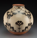 American Indian Art:Pottery, A Contemporary Cochiti / Santo Domingo Polychrome Jar. Lisa Holt and Harlan Reano...
