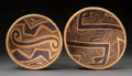 American Indian Art:Pottery, Two Jeddito Yelloware Bowls. c. 1200 - 1300 AD. ... (Total: 2Items)