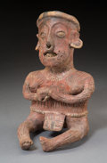 Pre-Columbian:Ceramics, A Nayarit Seated Figure ...