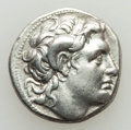 Ancients:Greek, Ancients: THRACIAN KINGDOM. Lysimachus (305-281 BC). AR drachm(4.23 gm). About XF....