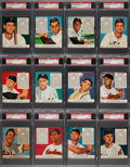 Baseball Cards:Sets, 1952 Red Man (With Tabs) Baseball American League PSA-GradedComplete Set (26). ...