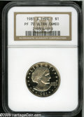 Proof Susan B. Anthony Dollars: , 1981-S SBA$ Type One PR 70 Deep Cameo NGC. ...