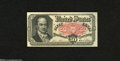 Fractional Currency:Fifth Issue, Fr. 1381 50c Fifth Issue Choice New. Packs of 100 were often sewedtogether, with this note sporting a pinhole in the upper ...