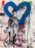 Works on Paper, Mr. Brainwash (French, b. 1966). Charlie Chaplin Blue. Stencil and acrylic on paper. 30 x 22-1/2 inches (76.2 x 57.2 cm)...