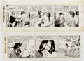 Original Comic Art:Comic Strip Art, Leonard Starr On Stage Daily Comic Strip Original Art Groupof 2 (Chicago Tribune, 1965-66)....