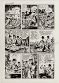 Original Comic Art:Panel Pages, Ray Bailey War Battles #5 Story Page 5 Original Art (Harvey,1952)....