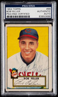 Autographs:Sports Cards, Signed 1952 Topps Bob Feller #88 PSA/DNA Authentic....