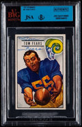 Autographs:Sports Cards, Signed 1951 Bowman Tom Fears #6 BVG-JSA Authentic. ...