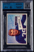 Autographs:Sports Cards, Signed 1952 Bowman Small Art Donovan #46 BVG-JSA 9 Autograph. ...