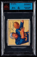 Autographs:Sports Cards, Signed 1950 Bowman Tom Fears #51 BVG-JSA Authentic. ...