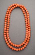 Tribal Art, A Chinese Glass Bead Necklace...