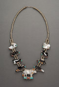 Jewelry:Necklaces, A Zuni Necklace. Porfilio Sheyka. c. 1980. ...