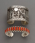 American Indian Art:Jewelry and Silverwork, Two Contemporary Navajo Bracelets... (Total: 2 Items)