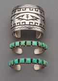 American Indian Art:Jewelry and Silverwork, Three Contemporary Navajo Bracelets. ... (Total: 3 Items)