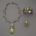 American Indian Art:Jewelry and Silverwork, A Navajo Jewelry Suite. c. 2000... (Total: 3 Items)