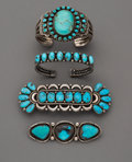 American Indian Art:Jewelry and Silverwork, Four Navajo Jewelry Items. c. 1960... (Total: 4 Items)