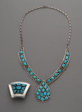 American Indian Art:Jewelry and Silverwork, Two Navajo Jewelry Items. c. 1965... (Total: 2 Items)