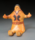 American Indian Art:Pottery, A Hopi Polychrome Seated Figure. Larson Goldtooth...