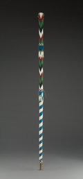 American Indian Art:Beadwork and Quillwork, An Apache Walking Stick...