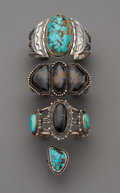 American Indian Art:Jewelry and Silverwork, Four Navajo Jewelry items. c. 1960. ... (Total: 4 Items)
