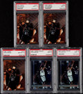 Basketball Cards:Lots, 1997 Finest & Topps Chrome Tim Duncan PSA Graded RookieCollection (5)....