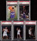 Basketball Cards:Lots, 1996-98 Basketball Rookies PSA Graded Collection (5)....