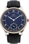"Timepieces:Wristwatch, IWC Ref. IW544501 ""Vintage Collection"" Steel Portuguese Wristwatch. ..."