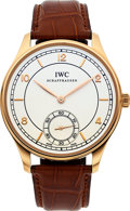 """Timepieces:Wristwatch, IWC Ref. IW544503 """"Vintage Collection"""" Rose Gold Portuguese Wristwatch. ..."""