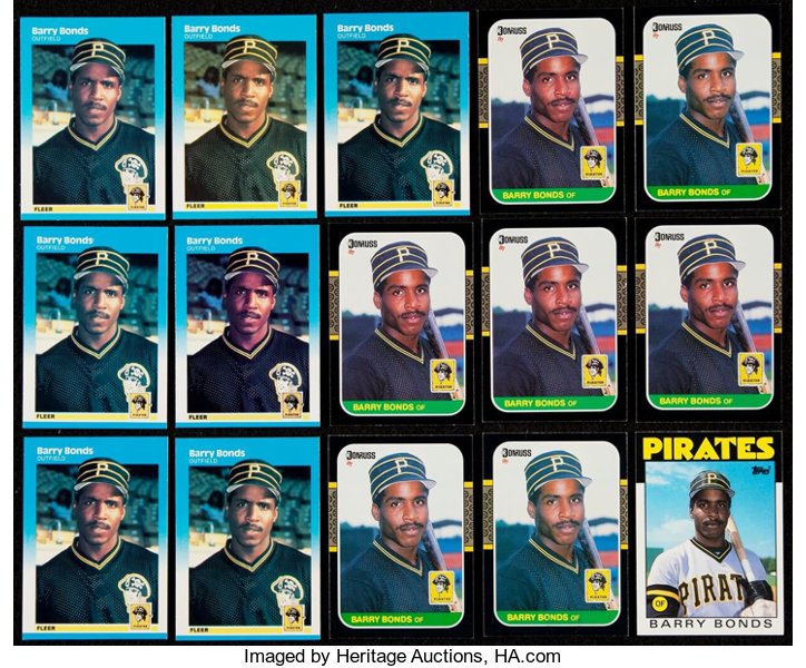 1986 93 Barry Bonds Collection 33 With 28 Rookies