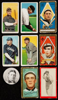 Baseball Cards:Lots, 1909-11 Baseball Collection (9) With Four T206 Cards....