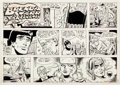 Original Comic Art:Comic Strip Art, Ramona Fradon Brenda Starr Sunday Comic Strip Original Artdated 10-11-81 (Tribune Media Ser...