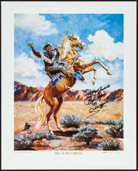 Roy Rogers: King of the Cowboys (Joe Glisson Productions, 1990s). Autographed & Signed Artist's Proof Print (16&...
