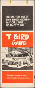 "Movie Posters:Exploitation, T-Bird Gang (Filmgroup, 1959). Folded, Fine/Very Fine. Insert (14"" X 36""). Exploitation.. ..."
