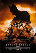"""Movie Posters:Action, Batman Begins (Warner Brothers, 2005). One Sheet (27"""" X 40""""). DS Advance Action.. ..."""