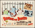 "Movie Posters:Comedy, Bedtime for Bonzo (Universal International, 1951). Half Sheet (22"" X 28"") Style A. Comedy.. ..."