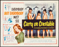 "Movie Posters:Comedy, Carry On Constable (Anglo Amalgamated, 1960). Half Sheet (22"" X 28""). Comedy.. ..."