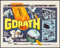 "Movie Posters:Science Fiction, Gorath (Brenco, 1964). Half Sheet (22"" X 28""). Science Fiction....."