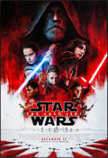 "Movie Posters:Science Fiction, Star Wars: The Last Jedi (Walt Disney Studios, 2017). One Sheet(27"" X 40"") DS Advance. Science Fiction.. ..."
